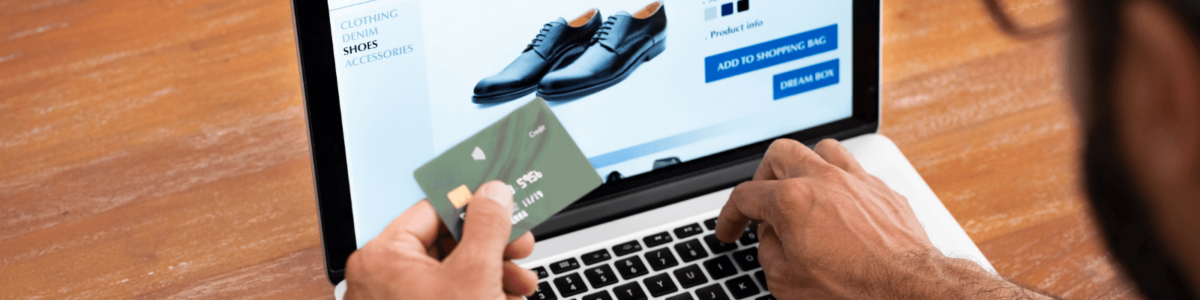 Online shoe shopping with credit card