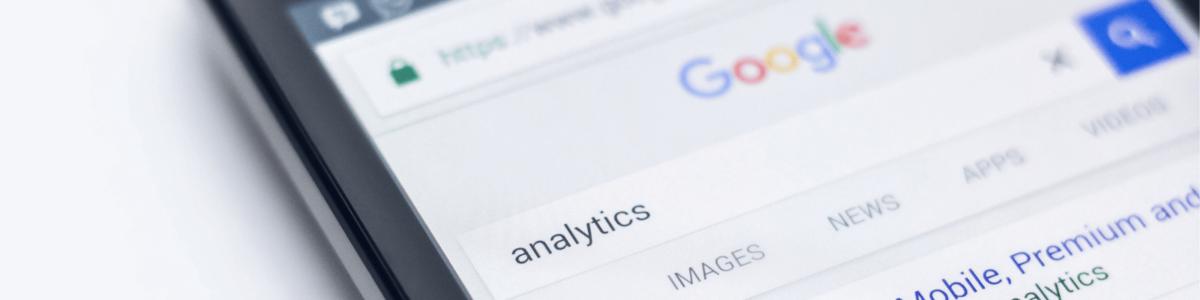 Mobile webpage google analytics