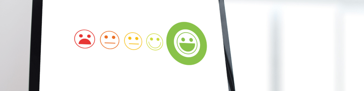 Red amber green smiley face ratings