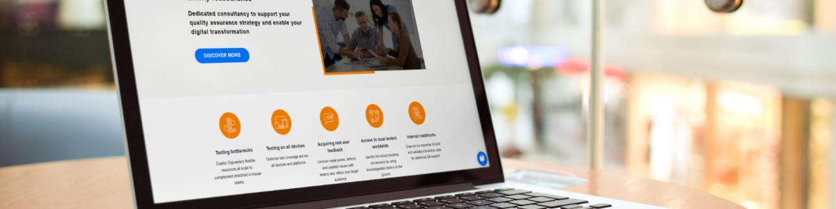 Laptop Digivante homepage